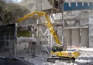 Rušenje mlilnice v Cementarni Trbovlje