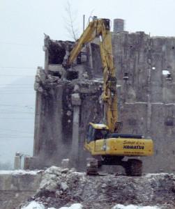 Rušenje stare TE v Trbovljah